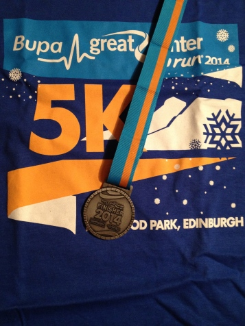 My medal and T-shirt