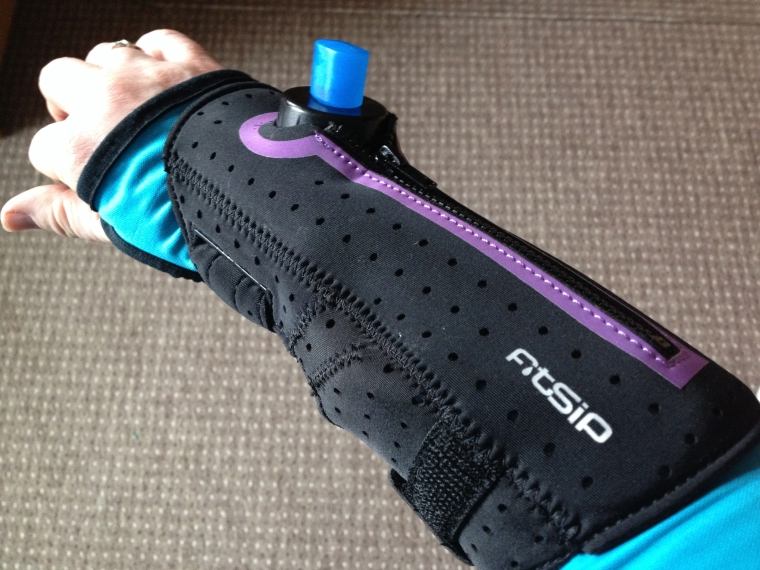 FitSip armbands hold a small bladder which is ideal for middle distance running.