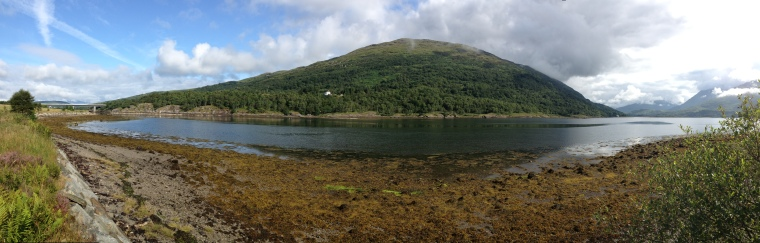 The view after my Magic Mile! Loch Creran is a beautiful and tranquil place.